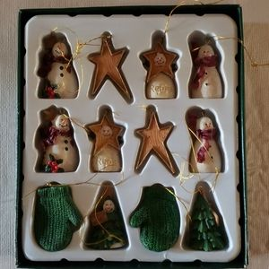 Boxed set of Deb Strain miniature ornaments.
